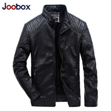 JOOBOX Men leather jackets 2017 New degisn Casual motorcycle leather jacket coats jaqueta de couro masculina Plus Size L-5XL