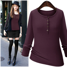 Buy Hot Sale Autumn T Shirt Women 2016 Long Sleeve Wild Solid Tshirt Female Fashion T-shirts Women Tops Plus Size Tee Shirt Femme for $10.78 in AliExpress store