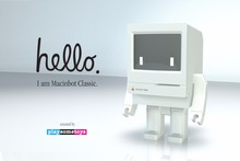 New Original Design Macinbot Classic Apple PC Computer Lovely Action Figure Robot Toy Fans Limited Edition Macbook Doll Toys