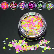 1g/bottle Mixed Design Plastic Mini Round 1-3mm Thin Sequins Nail Art Glitter Dazzling Powder Dust for DIY Nail Polish JIP22-28
