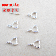 Stock Wholesale Findings 100PCS Pure 925 Sterling Silver Ear Pin Pairs Stud Earrings Supplies Back Lock Post Beading(China)