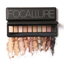 Focallure Eye Shadow Makeup Shimmer Matte Eyeshadow Earth Color Eyeshadow Palette Cosmetic Makeup Nude Eye 10 colors M02484(China)