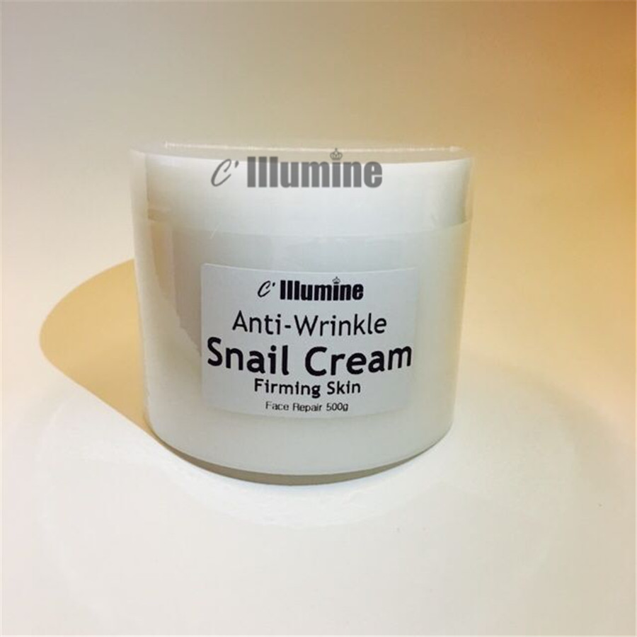 Facial Snail Cream Whitening Moisturizing Brightening Firming Cream  Lifting Products Senium Pores  Beauty Salon 500g <br>