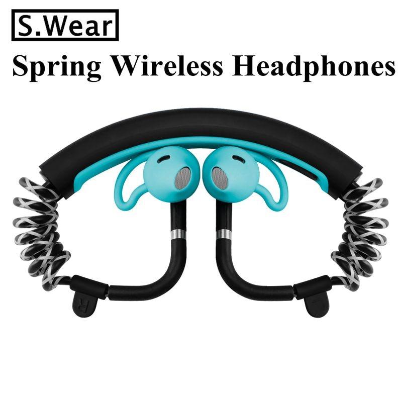 S.wear Stick Bluetooth Stereo Headphone Wireless Sports Running Headset Handsfree Earphones pk LF-18 Bone Conduction headphones<br>