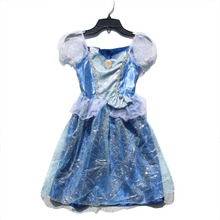3pcs/lot 4-6X Cinderella Princess Party Girls Minnie Costume Dresses Halloween infant girls baby Summer Christmas ball gown