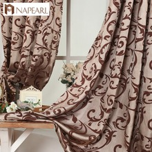 Luxury design kitchen door curtains bedroom curtain drape semi-blackout window blinds for balcony European modern curtain custom