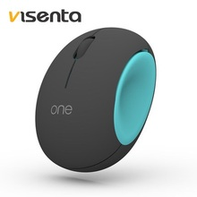 Visenta I1 Cute Egg-Shaped Compact 2.4GHz Optical Wireless Mouse Notebook Desktop PC Mouse