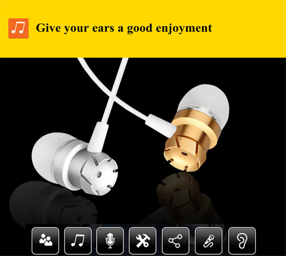 ME30 Metal Earphones Sports Noise Cancelling Headphones for Phone Stereo Headset with Mic for Xiaomi Computer iPHone (9)