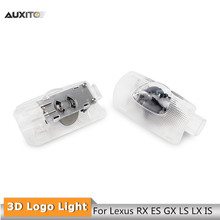 2x LED Car Door Logo Light 3D Laser Logo Projector Lamp For Lexus RX300 RX330 IS250 IS200 IS300 LX570 LS400