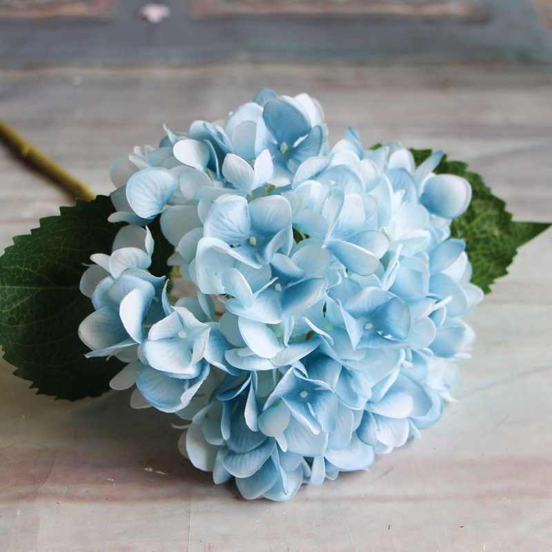 Artificial Flowers 1PC Hydrangea Bouquet for Home Decoration Flower Arrangements Wedding Party Decor