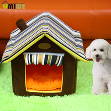 PP Cotton Dog House Cat Bed Puppy Pet Bed Fleece Warm Soft Dog Kennel Pet Sleeping Bag Cat Dog House For Small Dog Cama Perro(China)