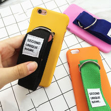 LOVECOM New Fashion DIY Colorful Wrist Strap Frosted Matte Hard PC Phone Back Cover Case For iPhone 6 6S Plus 7 7 Plus