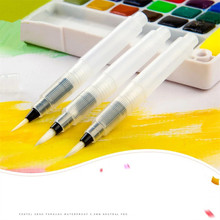 TOUCHNEW 3Pcs/Set water color Round Soft BRush Pen Set Size Middle ART long Water Brush pen flat nib Watercolor Art marker(China)