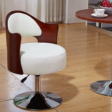 Fashion Living Room Chair PU Leather Steel Base Swivel