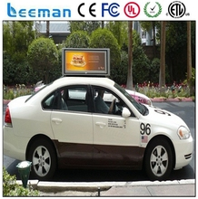 Leeman P5 P4 p5 ads taxi top /taxi top led display/3G wifi USB GPRS/moving video advertising sign
