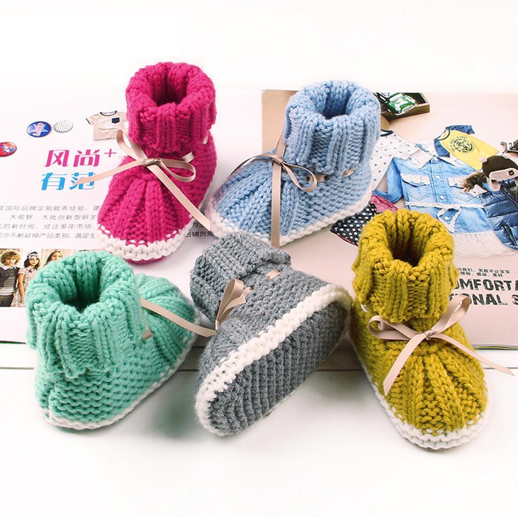 Booties Baby Prewalker Girl Crochet Handmade Newborn Shoes Socks Knit Crib