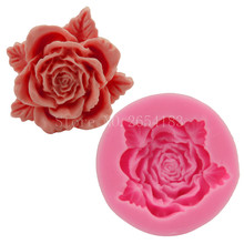 Flower Rose with Lace Silicone Fondant Soap 3D Cake Mold Cupcake Jelly Candy Chocolate Decoration Baking Tool Moulds FQ1970