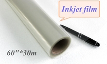 "180gsm wide format Pigment inkjet film for screen printing 60""*30m"