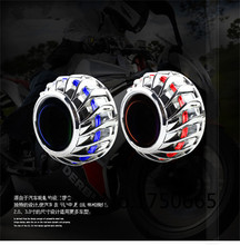 Universal Motorcycle 2.0 inch Motorcycle HID Bi-Xenon Headlight Projector Lens Xenon Light Kit With CCFL Angel Eye