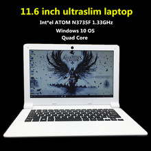 Free Postage Windows 10 11.6inch PC laptop computer In-tel Z3735F Quad core 2GB 32GB SSD camera tablet notebook Ultrabook(China)