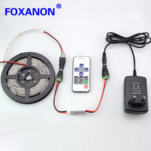 Foxanon Brand DC 12V 5630 Led Strip 5M 300Leds Flexible 60led/M Light +10Key RF Controller + DC Male and female + 3A 36W Power(China)