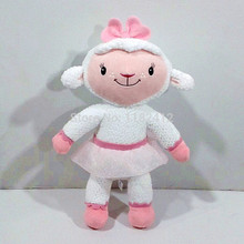 Doc McStuffins Toy Lamb Lambie Plush Toy Sheep Stuffed Animals 25CM 10'' Baby Girls Kids Toys for Children Gifts