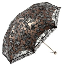 Hot Selling Sun Rain Umbrella Princess Lace Sunshade Umbrellas Lightweight Three Folding Umbrella Home Supplies 4 Colors(China)