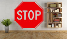 Creative Stop Sign Wall Decal Livingroom Traffic Signs Wall Stickers For Kids Rooms Art Mural Removable Modern Home(China)
