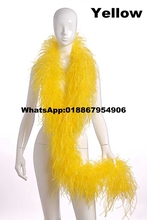Asia Ra 10Meters/Lot yellow OSTRICH FEATHER BOA party scarf Turkey feather boa marabou boa 4ply thickness Ostrich feather fringe