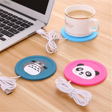 New Cartoon 5V USB Warmer Silicone Heat Heater for Milk Tea Coffee Mug Hot Drinks Beverage Cup Mat Pad best gift