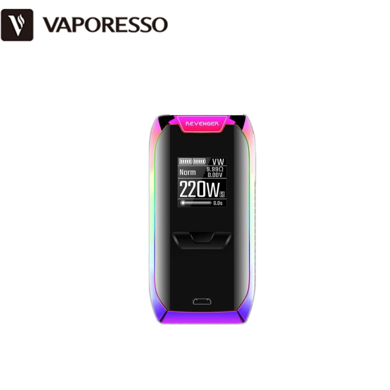 Vaporesso REVENGER Kit 220W Rainbow Color REVENGER Box MOD awith 2ML NRG Mini 5ML NRG Tank Atomizer Electronic Cigarette