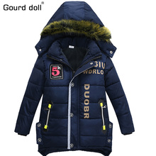 2017 New boy winter jackets & coat child hooded jacket baby kid warm clothes fashion coat long Children fashion Outerwear & Coat