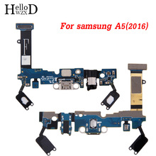 Sensor Headphone Jack Flex Cable USB Dock Connector Charging Port Flex Cable For Samsung Galaxy A5 SM-A510F A510F (2016) TrackNo