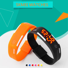 SKMEI Fashion Wrist Band Digital Sport Watch Women Ladies LED Wristband Student Waterproof Runnning Electronic Wristwatch 1099