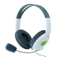 2016 New Fashion White & Black Contrast Color Headphone Headset with Microphone MIC for Xbox 360 Live Controller High Quality