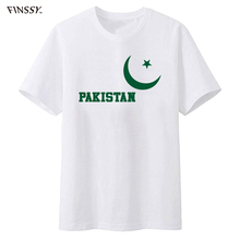 2017 Hot Sale New Men's T Shirt Brand Clothing Summer Tops Hip Hop Pakistan flag Brand in Fashion Tee Shirt