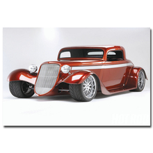 NICOLESHENTING Hot Rod Muscle Car Art Silk Fabric Poster Print Classic Car Pictures For Living Room Decor 009
