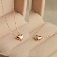 Hot Popular 1Pc Simple Design Exquisite Gold Color Chain Heart Love Pendant Girl Neckles for Lovely Ladies
