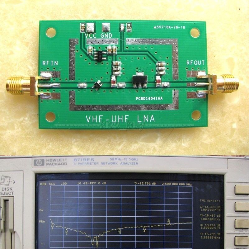 50MHz to 2.5GHz Broadband Low Noise RF Receiver Amplifier Signal Amplifier LAN FM HF VHF / UHF Ham Radio<br><br>Aliexpress