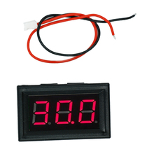 "10pcs/lot 0.56"" Mini Vehicle Voltmeter Digital DC 3-30V Red  LCD display volt Voltage Meter Panel with two wires 30%off"