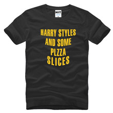 2017 Harry Styles And Some Pizza Slices T Shirts Men One Direction 1D Men T-shirt Tops Unisex Short Sleeve Casual Tees