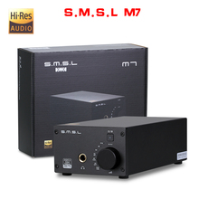 NEW SMSL M7 AK4452 * 2 32Bit/768KHz DSD512 Hifi Audio USB DAC with Amplifier XMOS LM4562 TPA120A2 Headphone output(China)