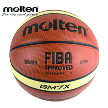 Official Size7 Molten GM7X PU Indoor Outdoor Leather Basket Basketball Ball Training Equipment With Gift Net Bag+Pin 7 Category