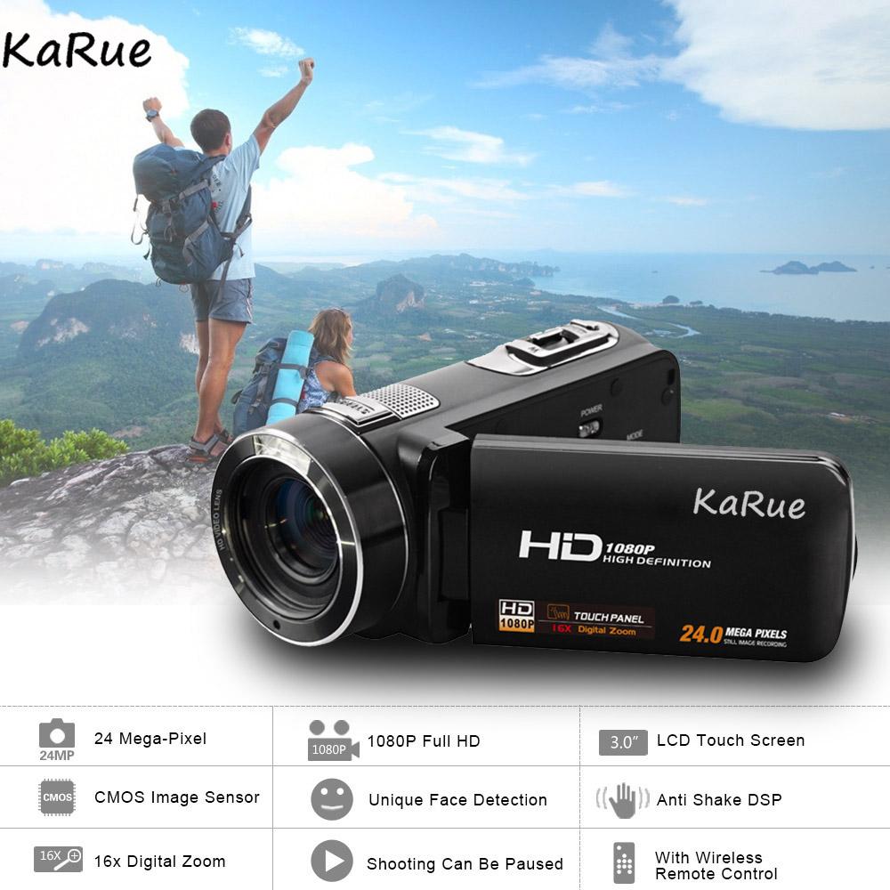 Karue HDV-Z816x Digital Zoom Max. 24MP 1080P Full HD Digital Video Camera Camcorder with Digital Rotation LCD Touch Screen 1