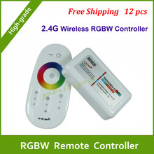 DHL free shipping  Suitable for LED Strip Light 640000 Colours Choosing Wireless 2.4G RF Touch Screen Remote LED RGBW controller