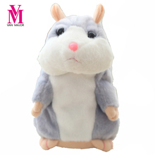 2017 Talking Hamster Mouse Pet Plush Toy Hot Cute Sound Record Hamster Educational Toy for Kids Gift(China)