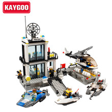KAYGOO Building Blocks bus Police Station truck City Plane ship Kids Children Toys Compatible With Legoe Christmas Gifts