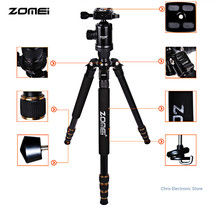Newest Zomei Z688 Aluminum Professional Tripod Monopod + Ball Head For DSLR camera Portable / SLR Camera stand