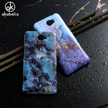 AKABEILA Hard PC Soft TPU Marble Phone Case For Huawei Y5II Y5 II Y6 ii Compact Y6 ii MINI CUN-U29 Honor 5A LYO-L21 Y5 2 Covers(China)