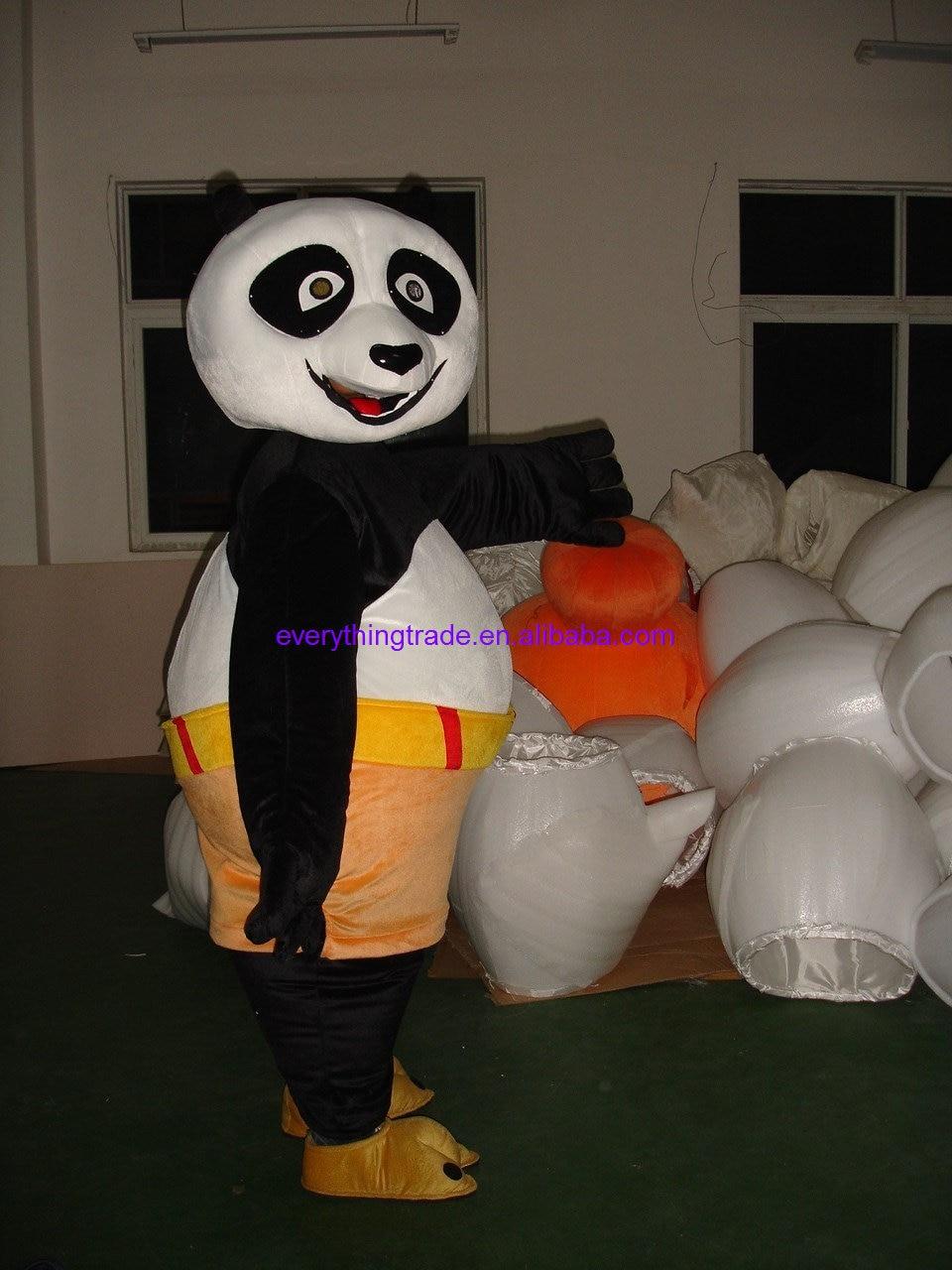 hot sale 2014 cartoon character adult popaul kung fu panda mascot costume halloween party - Kung Fu Panda Halloween